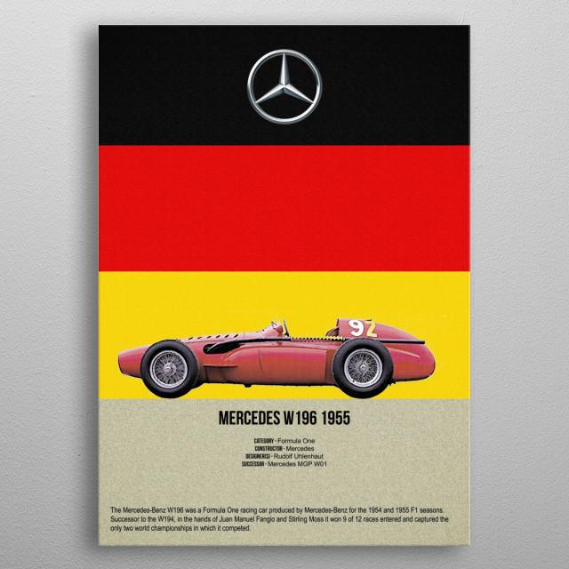 mercedes w196 1955 by FARKI15 DESIGN | metal posters - Displate | Displate thumbnail