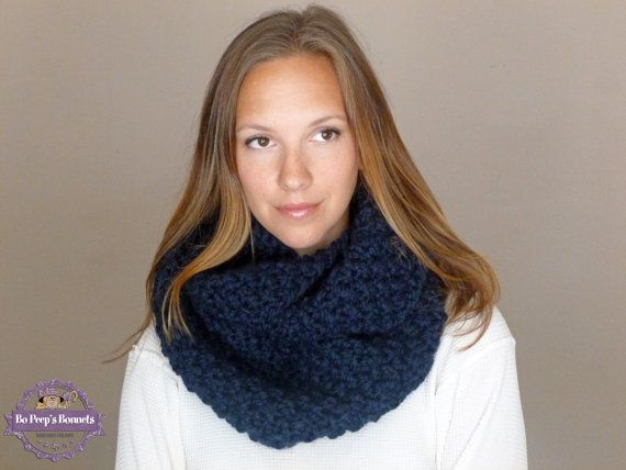 Knitting Loop Scarf : Cyber monday sale knitted infinity scarf navy by bopeepsbonnets