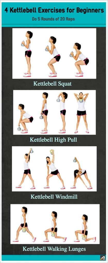 These Four Common Kettlebell Moves Will Help Tone Your Legs And Glutes While Building Core Upper Body Strength Grab A Comfortable