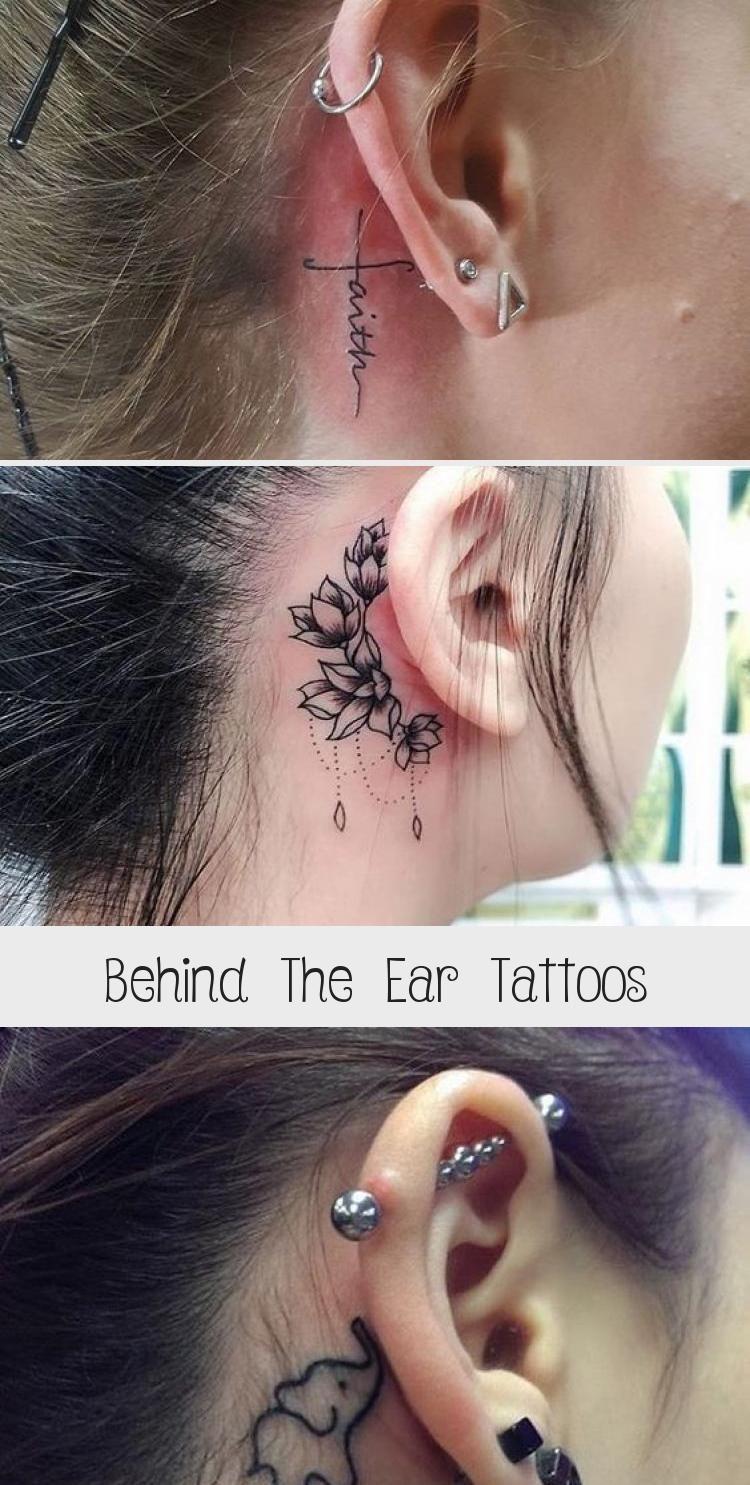 Behind The Ear Tattoos Tattoos, Tattoo trends, Subtle
