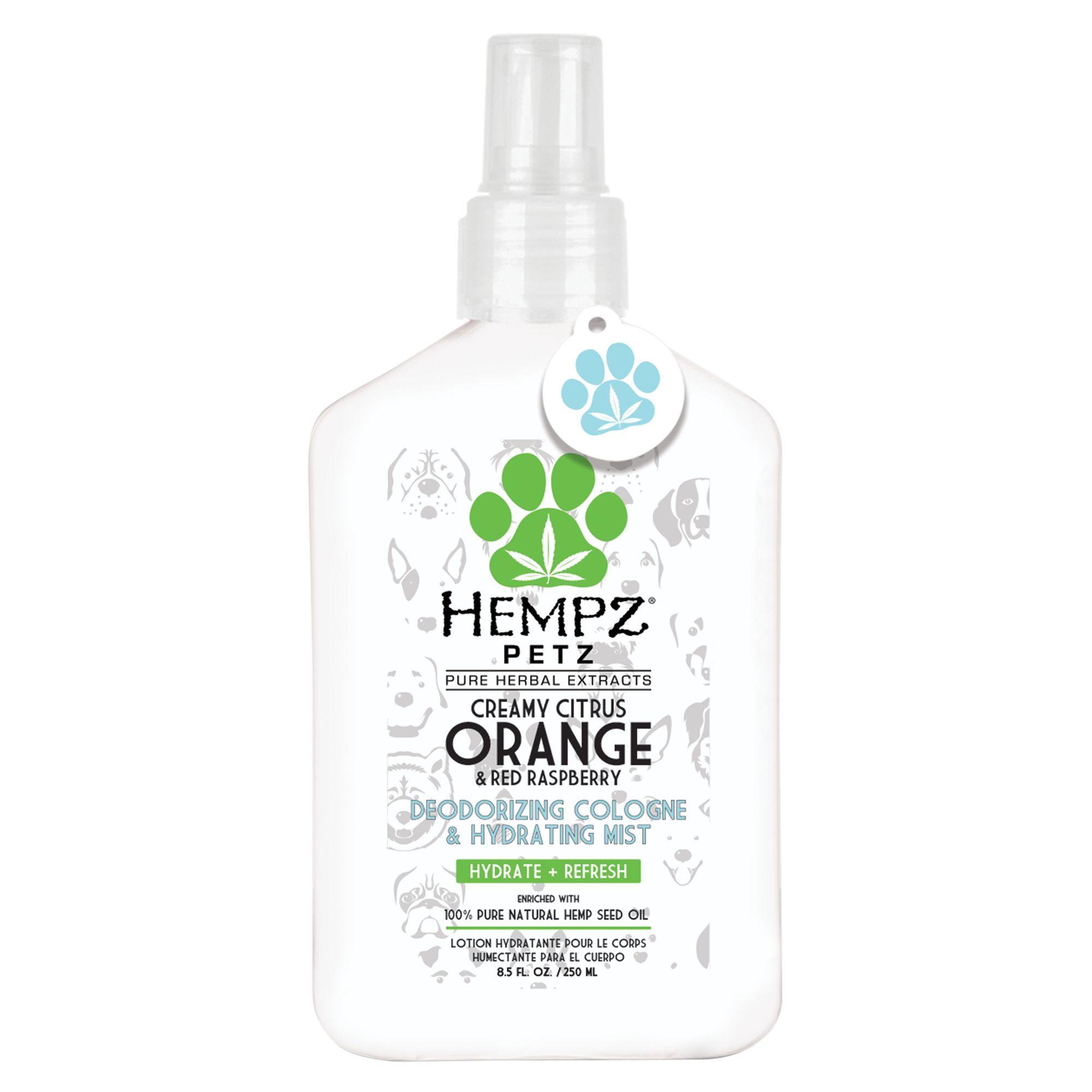 Hempz® Petz Herbal Deodorizing Cologne & Hydrating Mist - Creamy Citrus Orange & Red Raspberry
