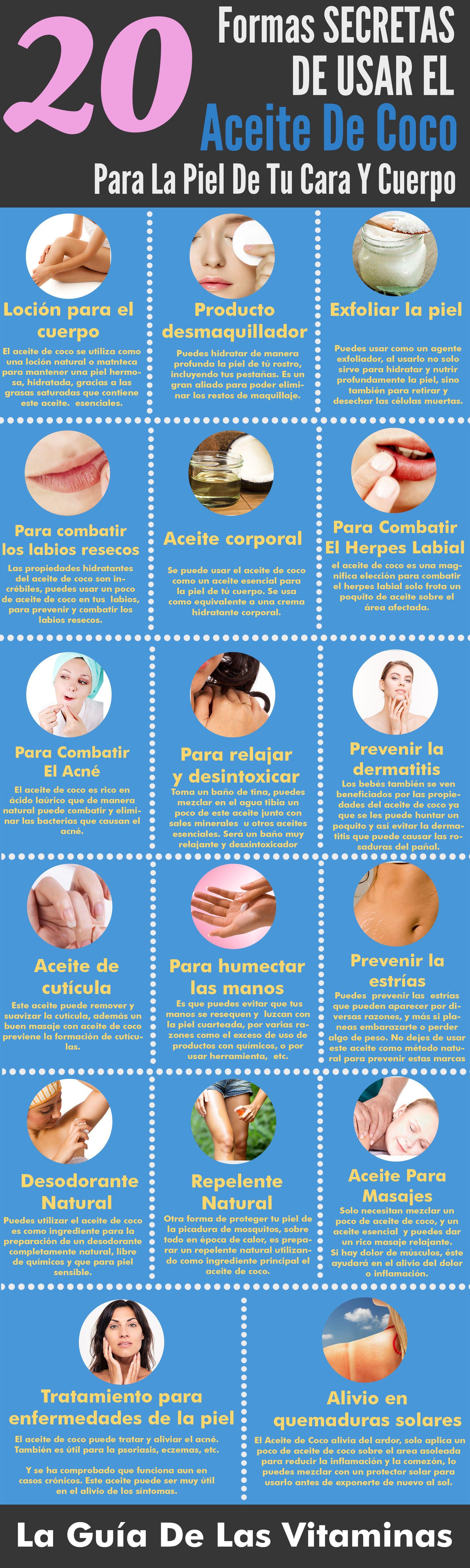 Las 20 mejores formas de usar el aceite de coco para la piel de tu cara y cuerpo