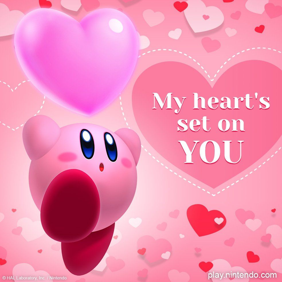 Kirby Valentines Valentines Cards Valentine Card Template Valentine S Day Card Messages