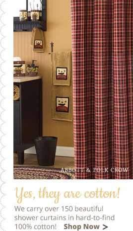 Country Village Shoppe Is Pleased To Offer You The Best Selection Of  Primitive And Country Style Shower Curtains.
