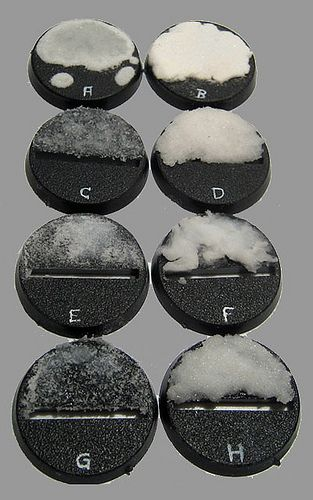 8 ways to base your models with snow (PVA + Bicarbonate)