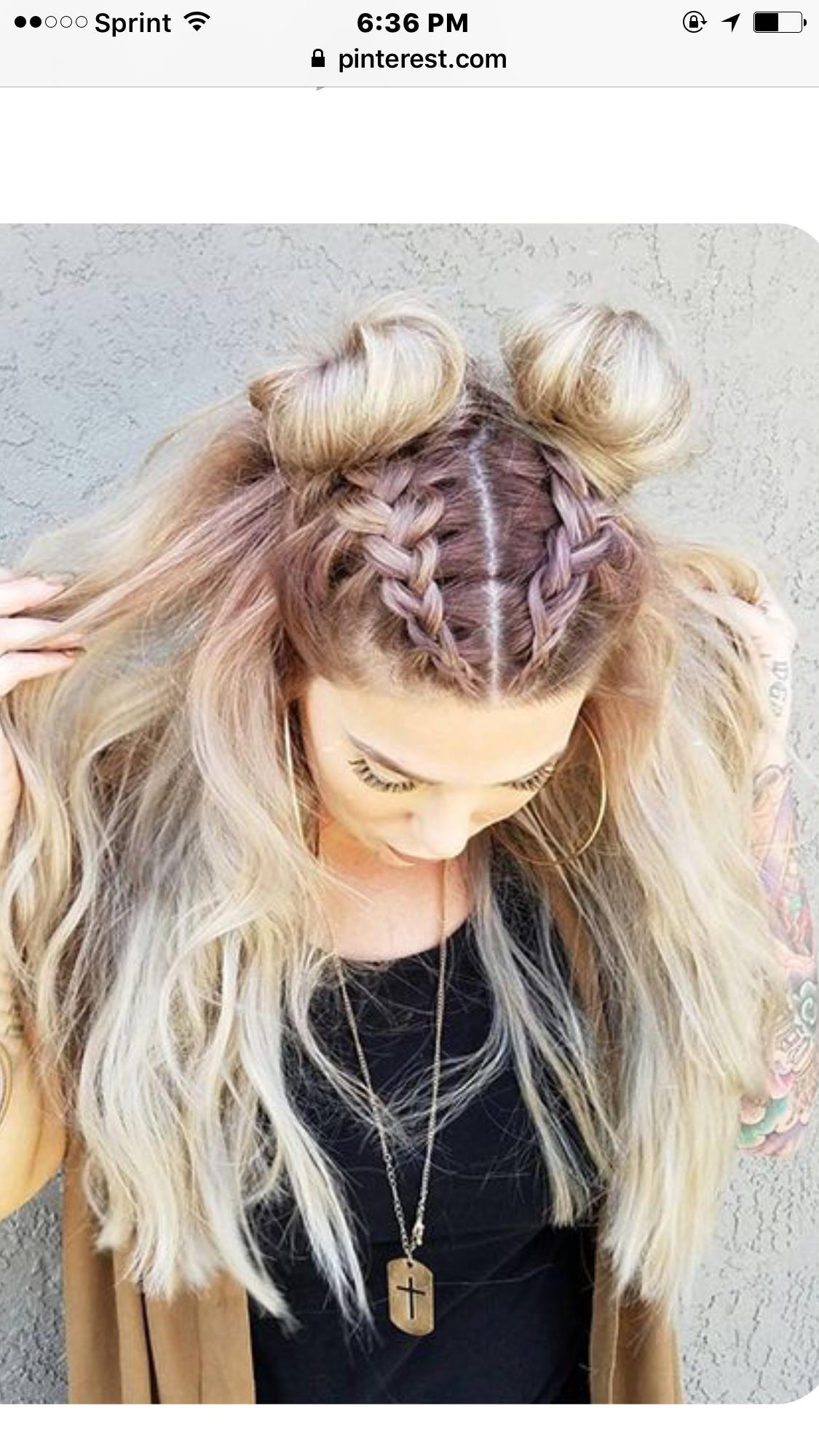 cute braided buns hair do | cute hair | long hair styles