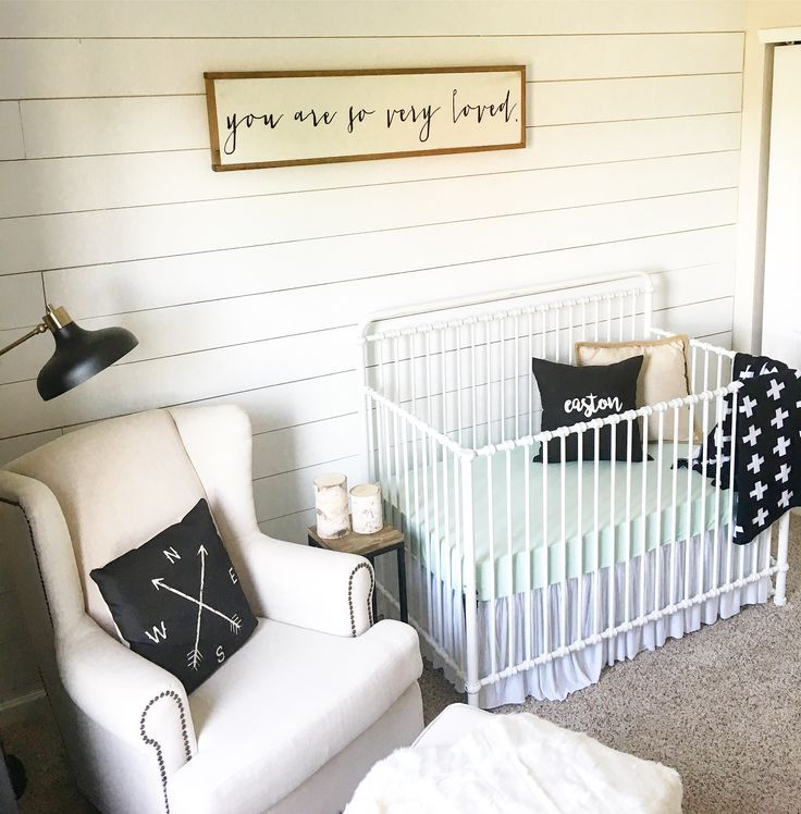 Shiplap In The Nursery For A Farmhouse Style Baby Boy Room