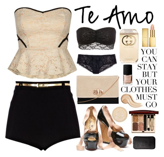 """""""964. Te Amo"""" by chocolatepumma ❤ liked on Polyvore featuring Karl Lagerfeld, Rimmel, love, FiRE, Style Tryst, Gucci, River Island, Madewell, Charlotte Russe, Lanvin and Clarins"""