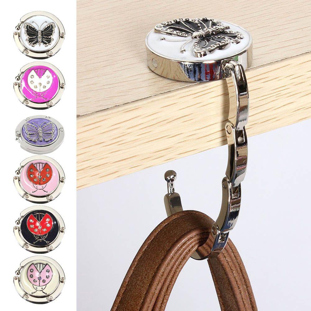 Portable Metal Foldable Bag Purse Hook Bag Hanger Purse Hook Handbag Holder  Shell Bag Folding Table
