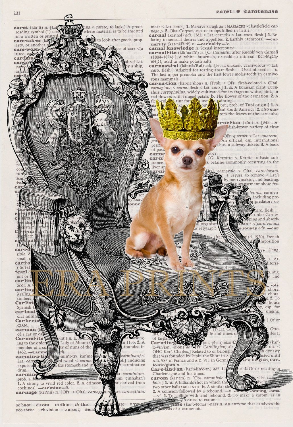 Your Royal Petness Personalized Pet Dictionary Page Art