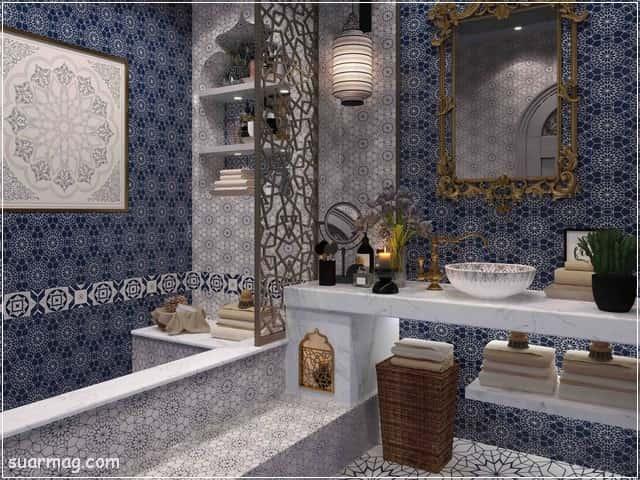 أجمل وأحدث صور حمامات مودرن 2021 وديكورات حمامات فخمة جدا مجلة صور Moroccan Bathroom Bathroom Photos Luxury Bathroom