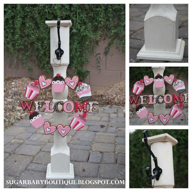 Table Legs To Wreath Holder Wreath Holder Diy Wreath Hanger Table Legs