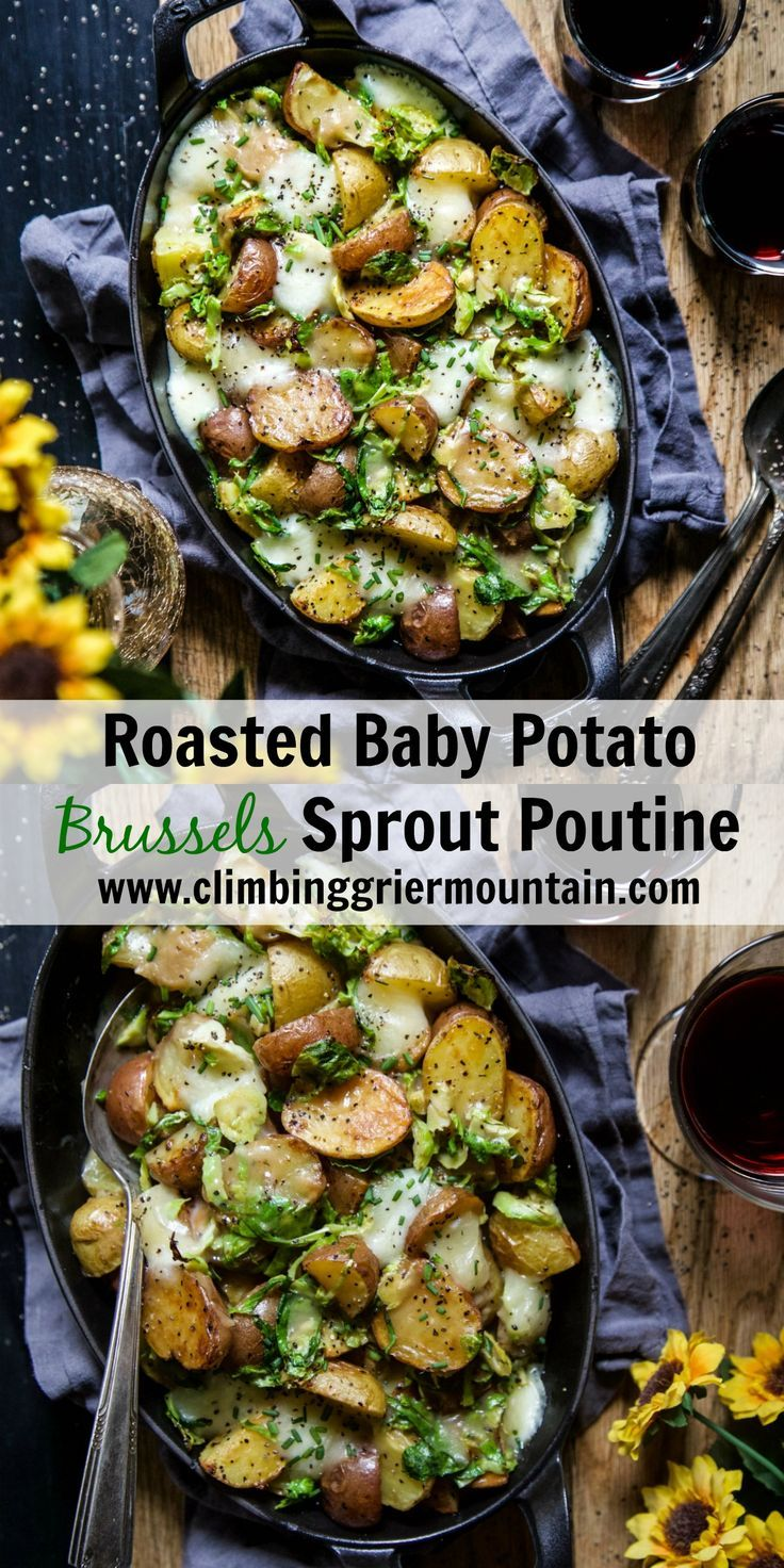 Roasted Baby Potato Brussels Sprout Poutine Roasted Baby