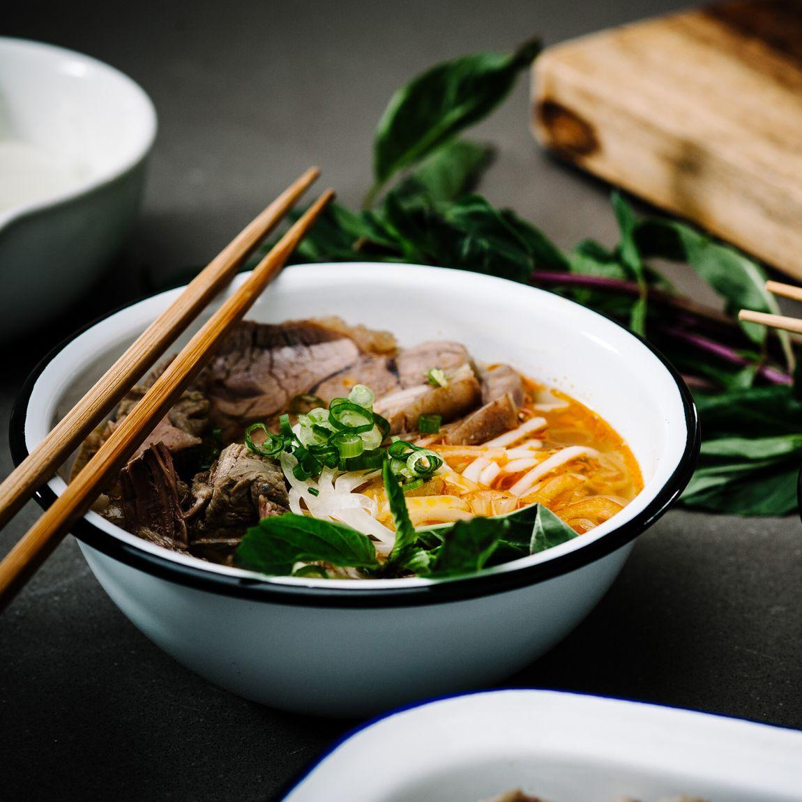 @iamafoodblog's Bun Bo Hue, A Fiery Spicy Red Hued