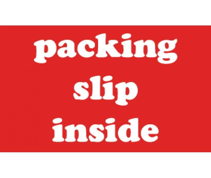 Labels, SHIPPING AND PACKING, PACKING SLIP INSIDE - WHITE ON RED - packing slip