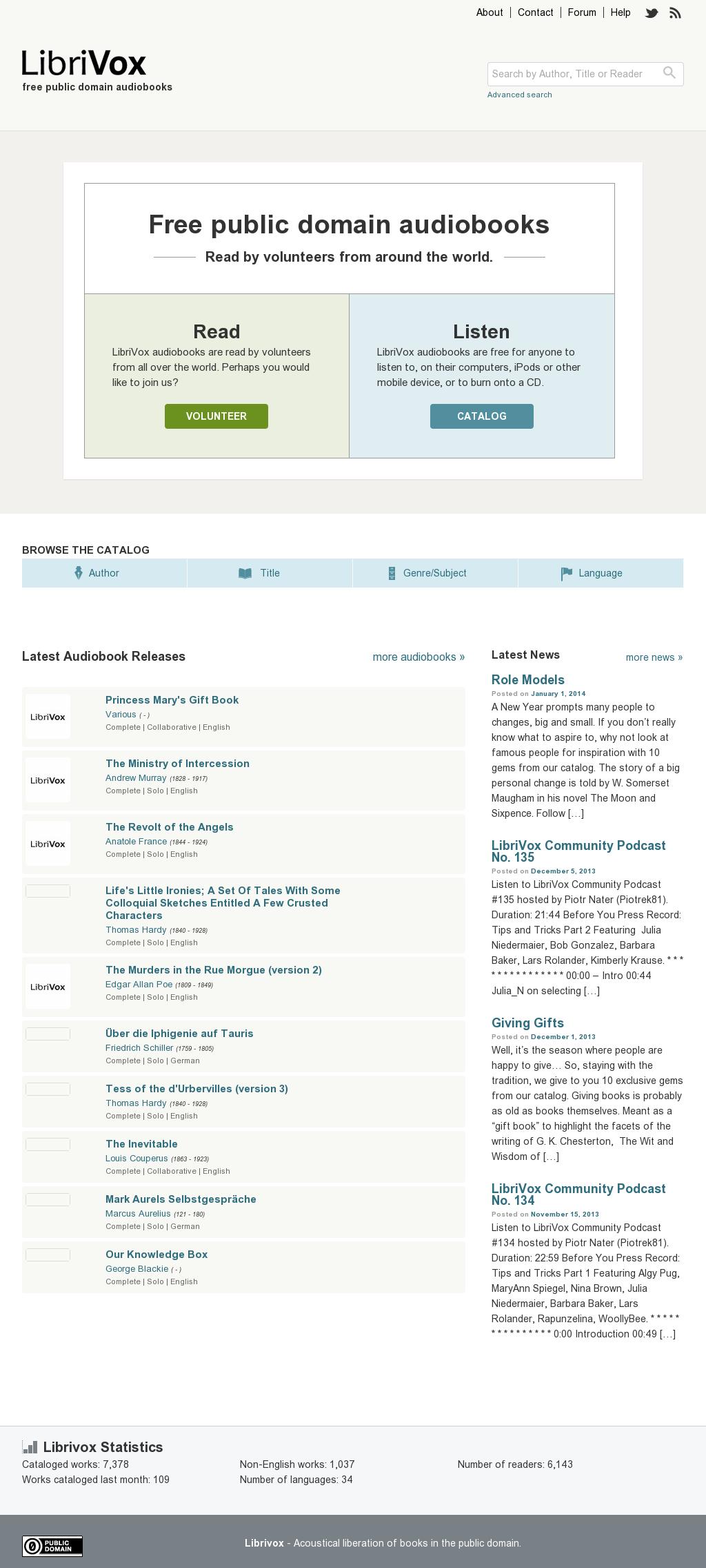 LibriVox - Free Public Domain Audiobooks