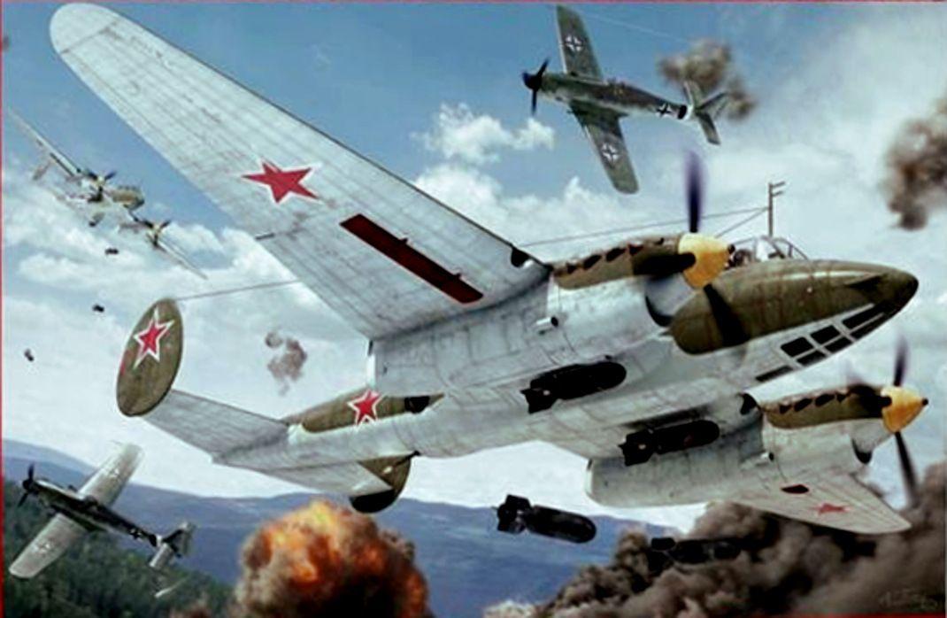 Пе - 2 (с изображениями) | Авиация, Картины, Крылья
