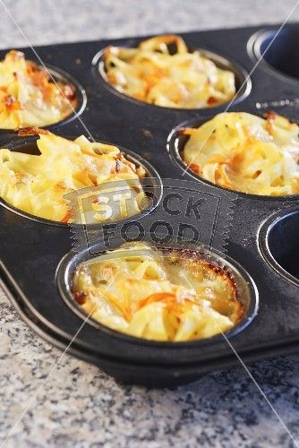 Your favorite pasta baked in a muffin tin. 2 of these and a side salad ....the perfect meal!