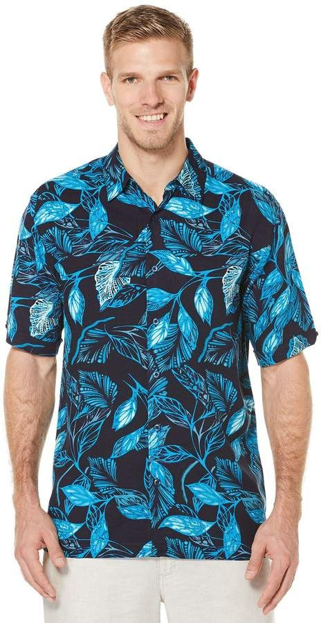 3b7df29d8a Cubavera Big  amp  Tall Short Sleeve Allover Tropical Print Shirt Tall Men  Fashion