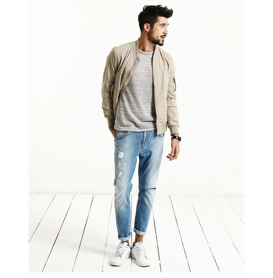 Jackets Spring Weight Bomber Jacket Mens Outfits Mens Casual Outfits Mens Fashion Suits Casual [ 965 x 950 Pixel ]