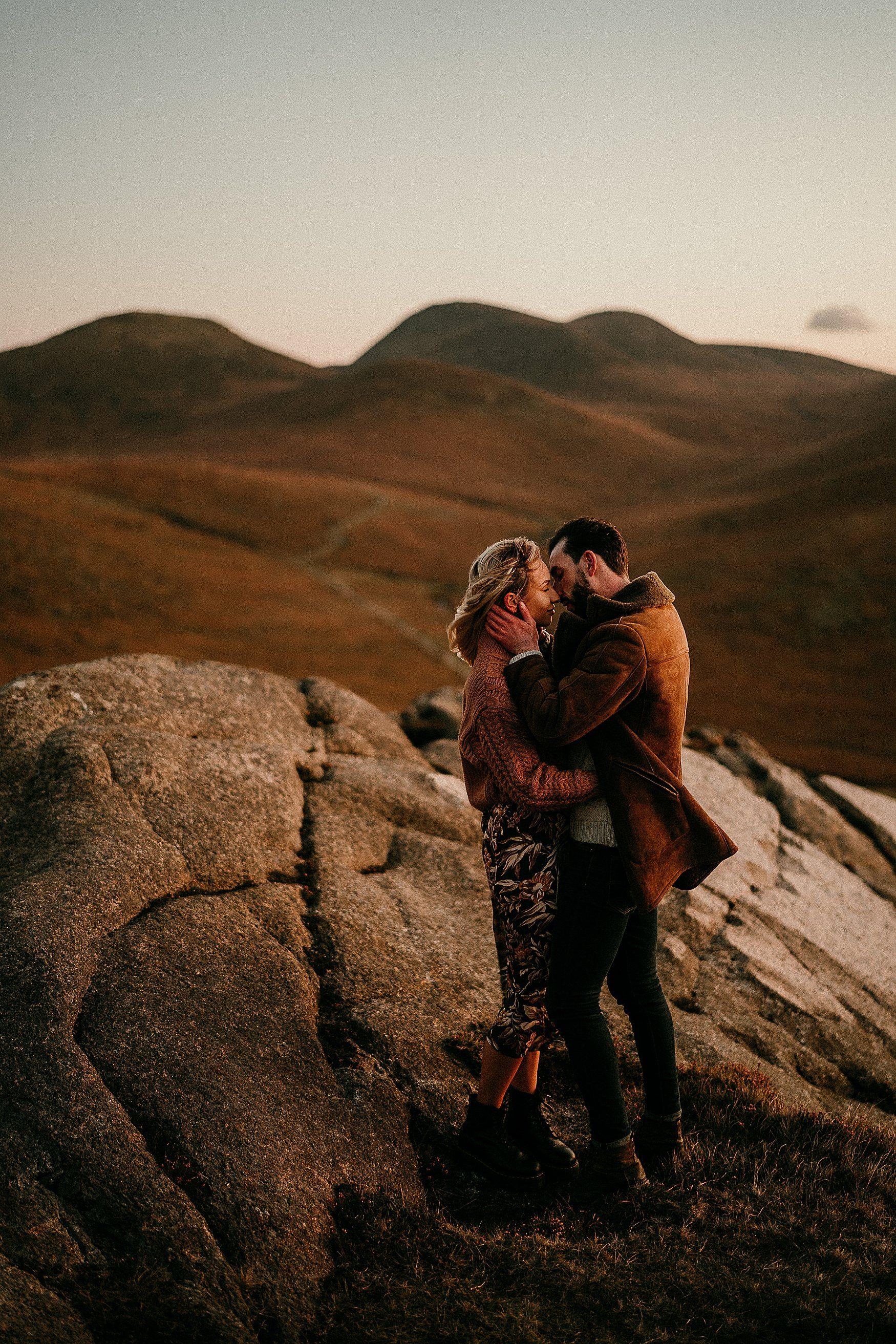 Joe Nicole Mourne Mountains Adventure Sessions In 2020 Elopement Photographer Couple Photography Adventure Elopement