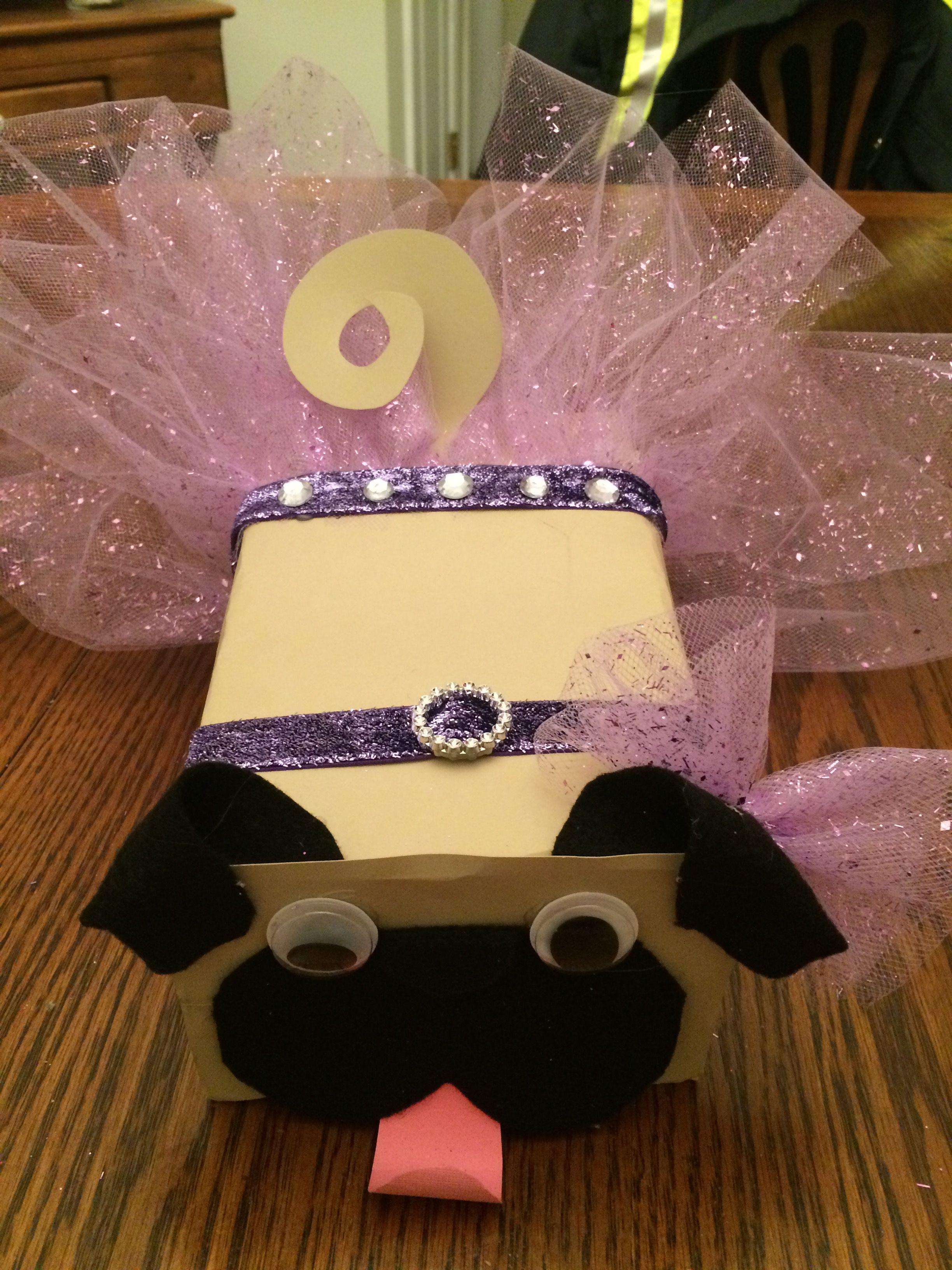 Kyndals Pug dog Valentine box  Valentines   Pinterest  Box