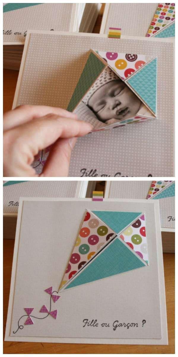 15 id es de faire part de naissance diy hyper cr atifs birthday cards pinterest scrapbook. Black Bedroom Furniture Sets. Home Design Ideas