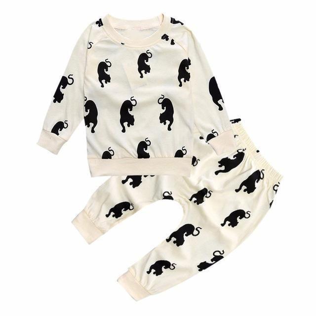 Bear Leader Hot Baby Clothes Sets Cartoon Pattern Infant Boys Clothing SuIts Fashion Autumn Hoodies+Long Pants Kid Newborn Sets