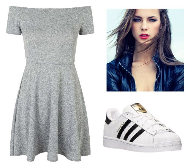 """#488"" by alexjeh ❤ liked on Polyvore featuring Topshop and adidas"