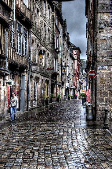 Dinan, Brittany, France.