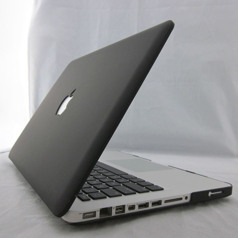 Black Matte Rubberized Hard Case Cover For Macbook Air Pro 11 13 15 ''  Retina