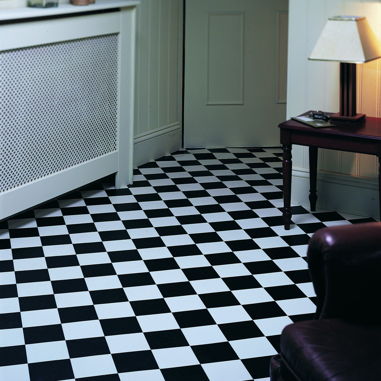 Rhino Pisa Black White Chequered Tile Vinyl Vinyl Flooring White Vinyl Flooring Black And White Bathroom Floor
