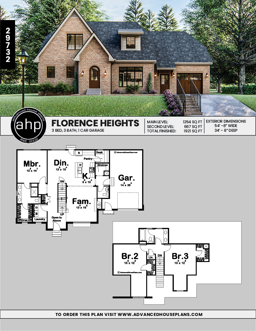 1 5 Story Modern Cottage Plan Florence Heights Cottage Floor Plans Modern Cottage House Plans
