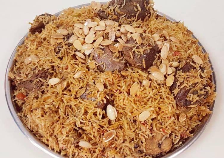 كبسة لحم بالصور من وصفات أم محمد الوردة البيضاء 1 Recipe Middle Eastern Recipes Food Arabic Food