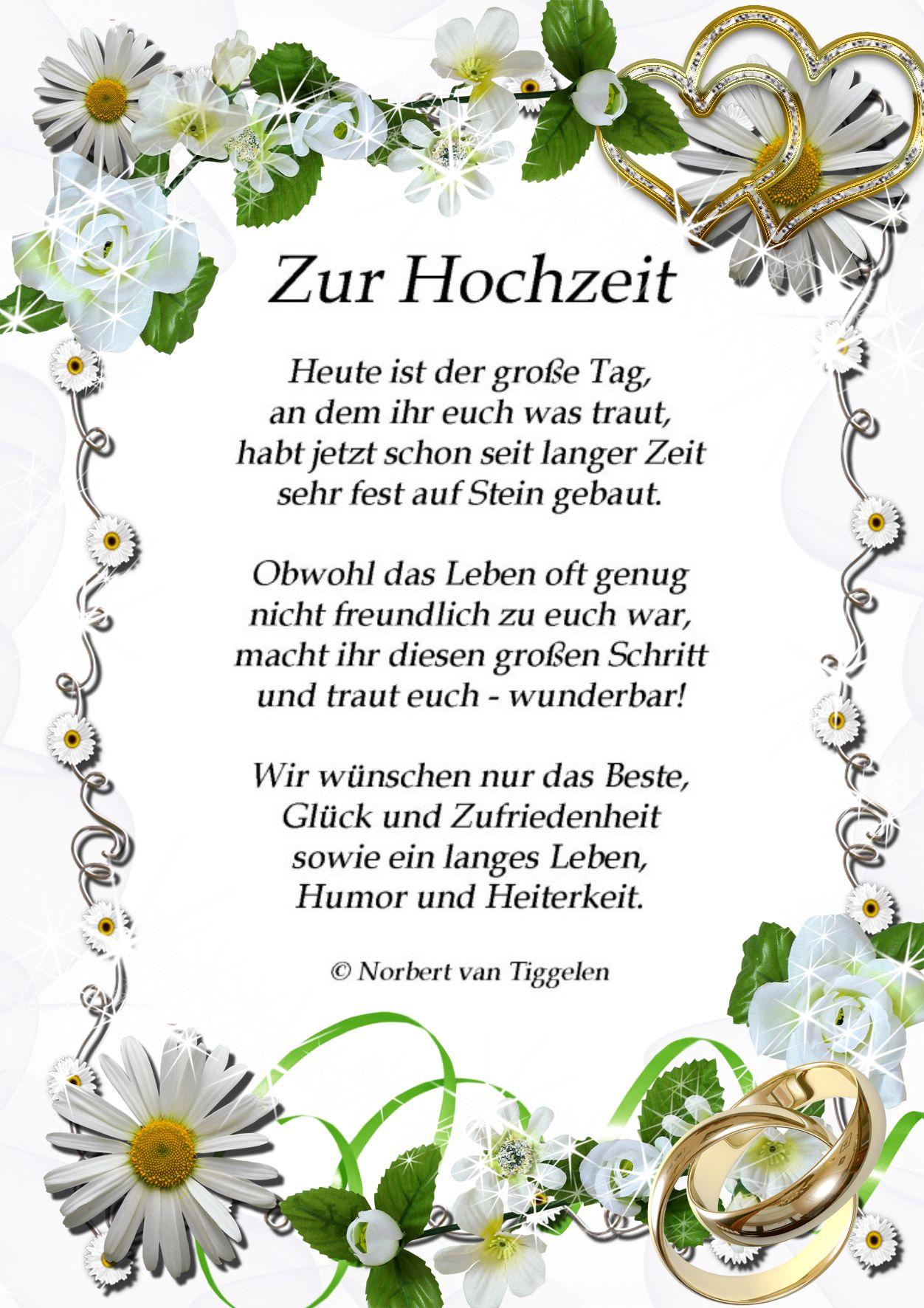 Mit Einem Klick Auf Dieses Gedicht Besuchen Sie Das Buch Wortschatze Von Norbert Van Tiggelen Indem Spruche Hochzeit Gluckwunsche Hochzeit Eiserne Hochzeit