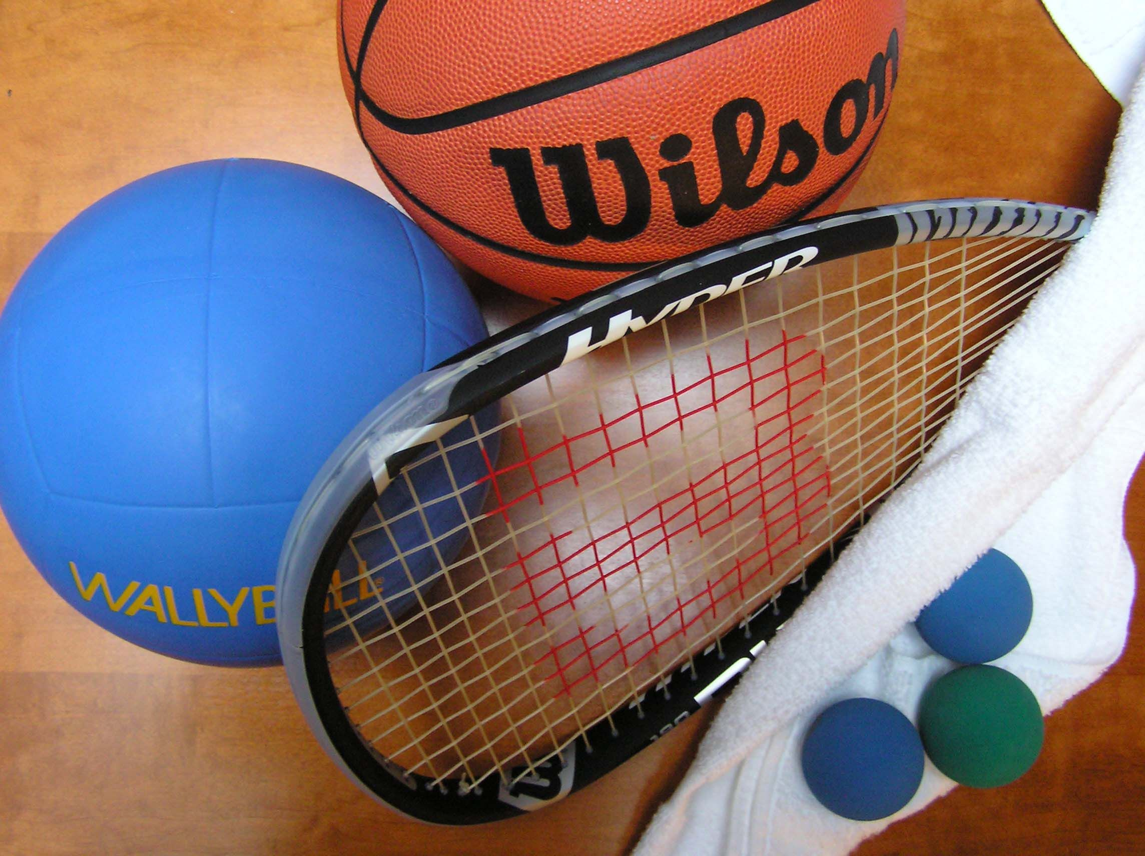 Basketball racquetball and wallyball are offered year