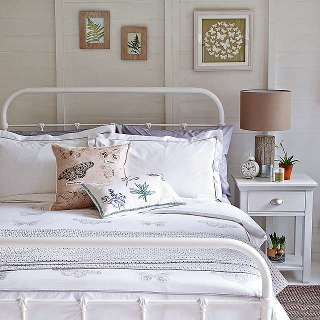 Bedroom Decorating Ideas John Lewis buyjohn lewis fran botanist bed frame, white, double online at