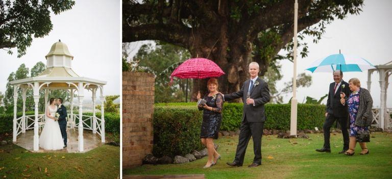 Topiaries Wedding Wet Weather