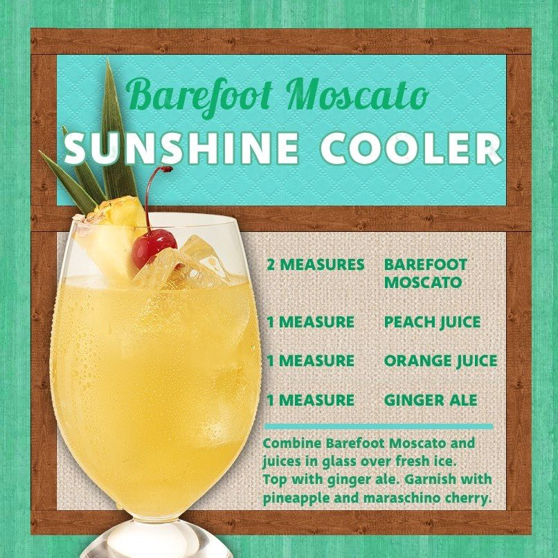 Barefoot Moscato Sunshine Cooler Drinks Wine