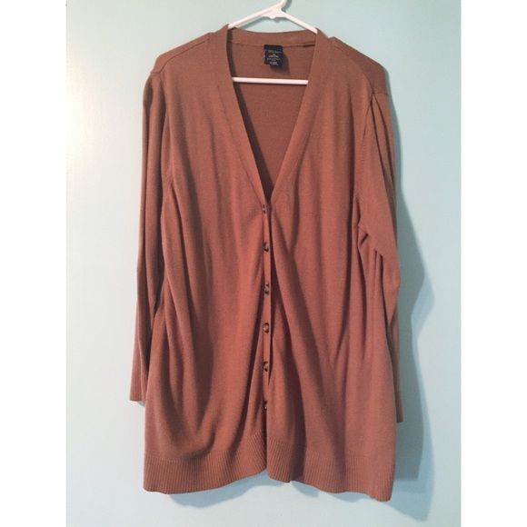 Brown Button Up Brown/Tan button up sweater Sweaters Crew & Scoop ...