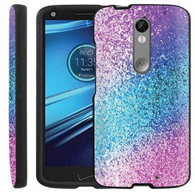 san francisco d9d24 03239 Pink Purple Glitter] Droid Turbo 2 [GUARD] Hard Cover Case [Shock ...
