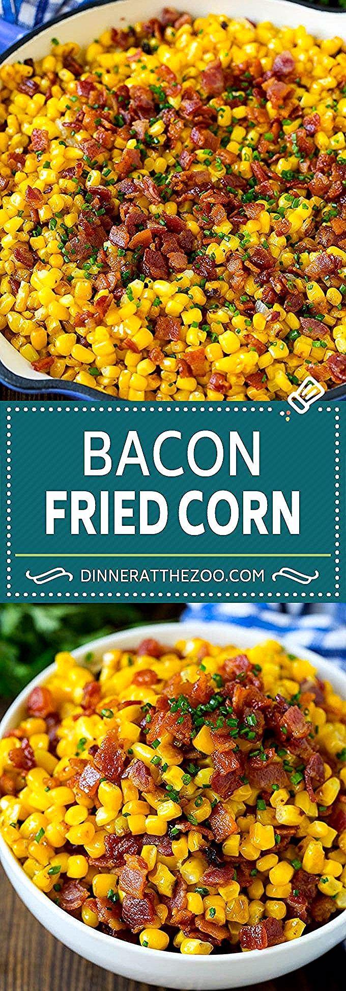 Bacon Fried Corn Recipe | Sauteed Corn | Corn Side Dish