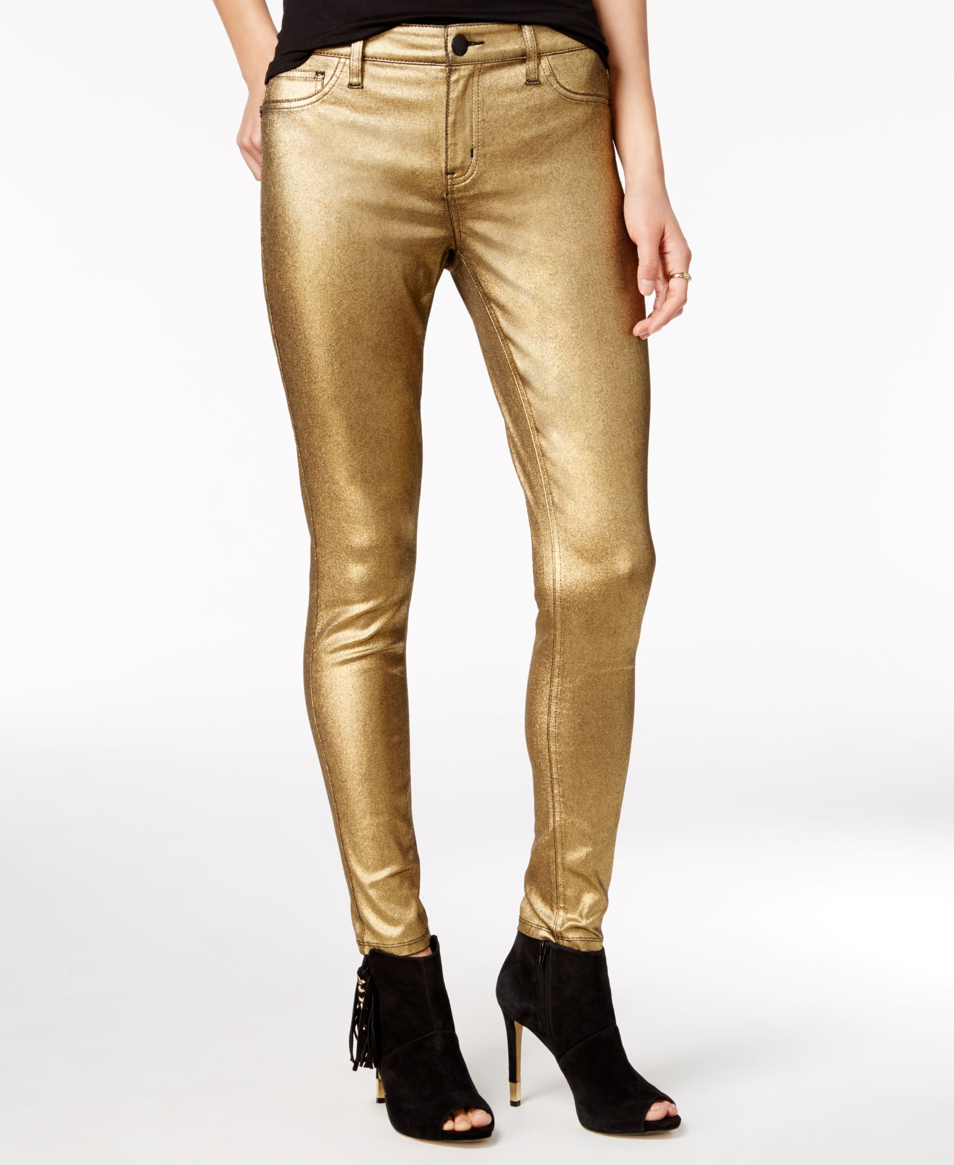 Tinseltown Juniors' Metallic Coated Skinny Jeans | Products
