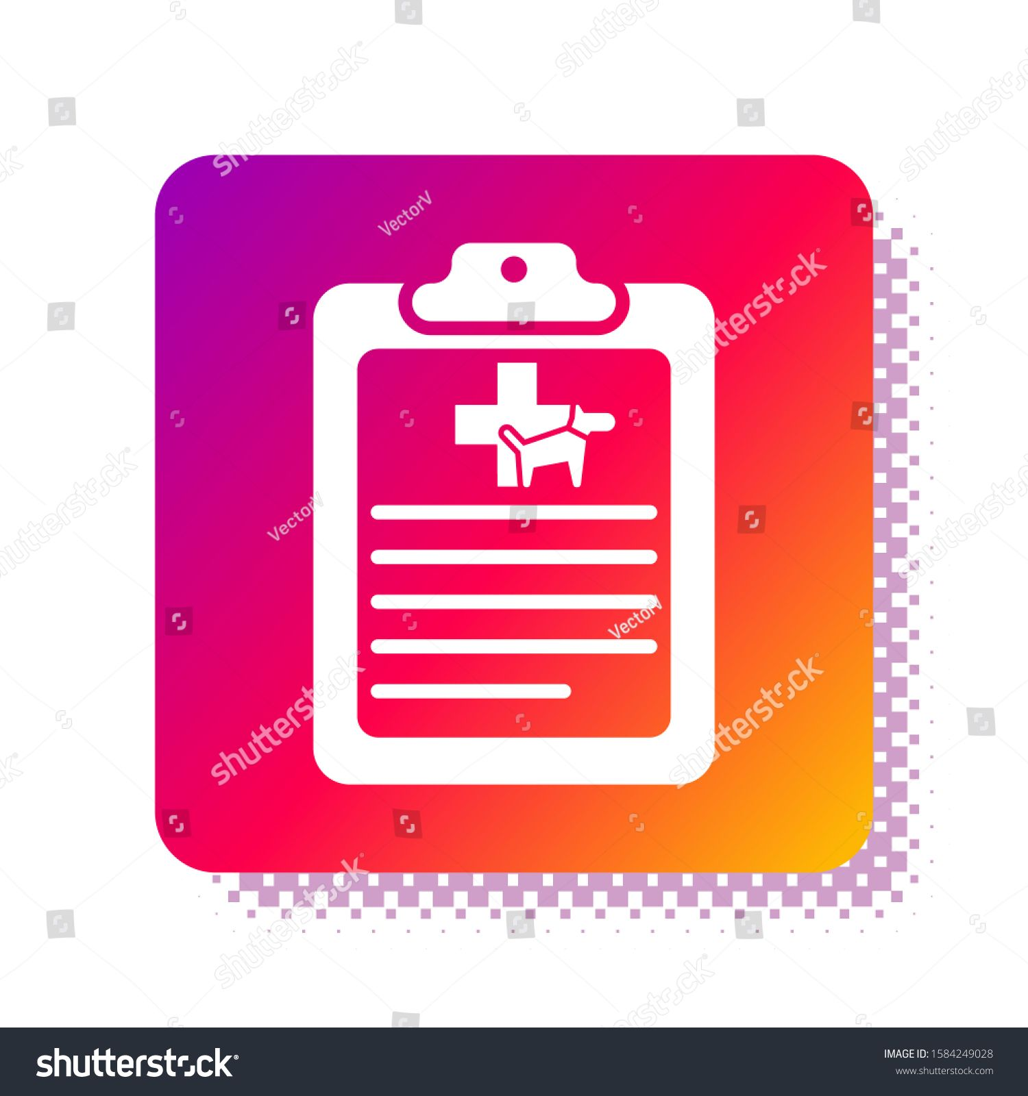 White Clipboard With Medical Clinical Record Pet Icon Isolated On White Background Health Insurance Form Medical Check Marks Report In 2020 Mockup Design Bage Icon