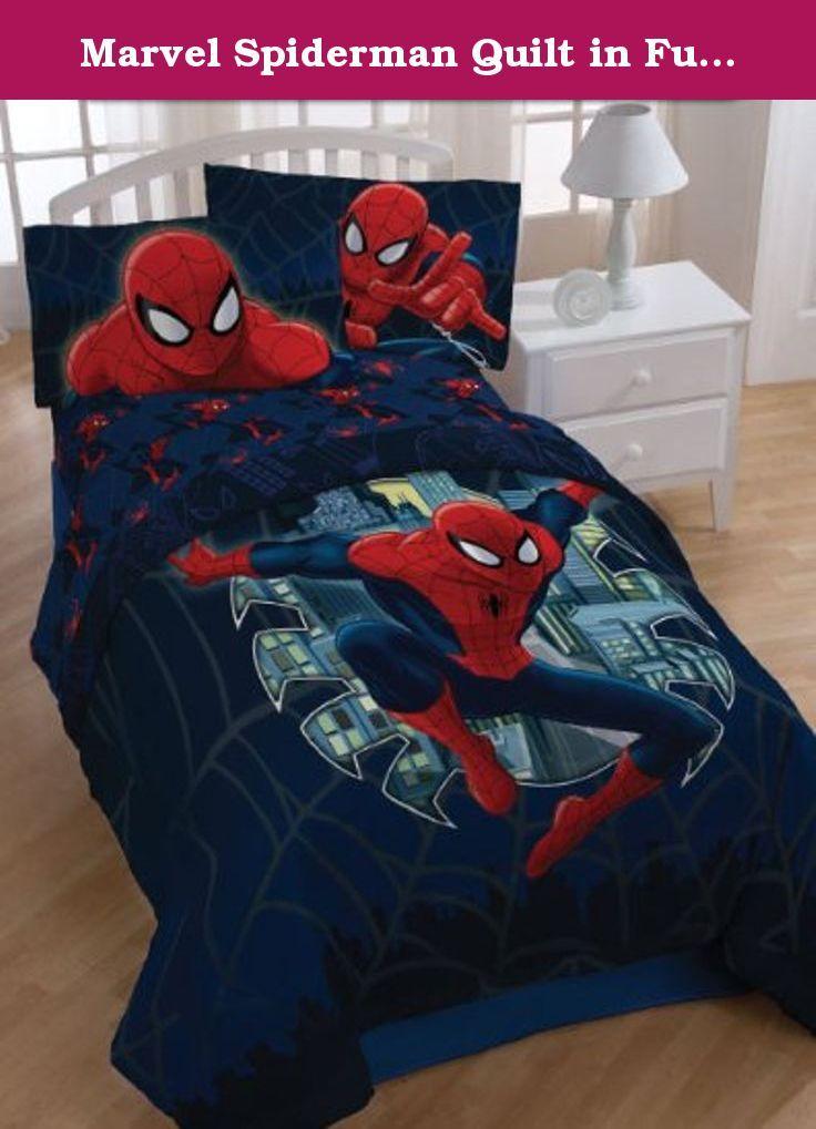 Marvel Spiderman Quilt In Full Queen Size 1 Full Queen Size