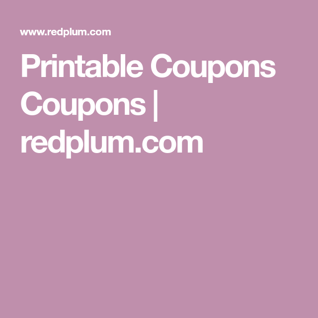printable coupons coupons redplumcom