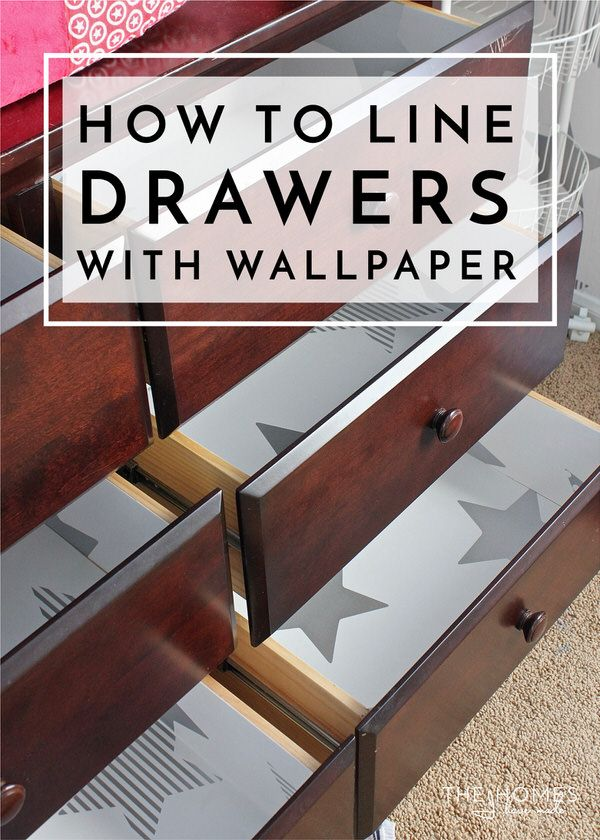How To Line Drawers With Wallpaper The Homes I Have Made Wallpaper Drawers Diy Drawers Diy Drawer Dividers