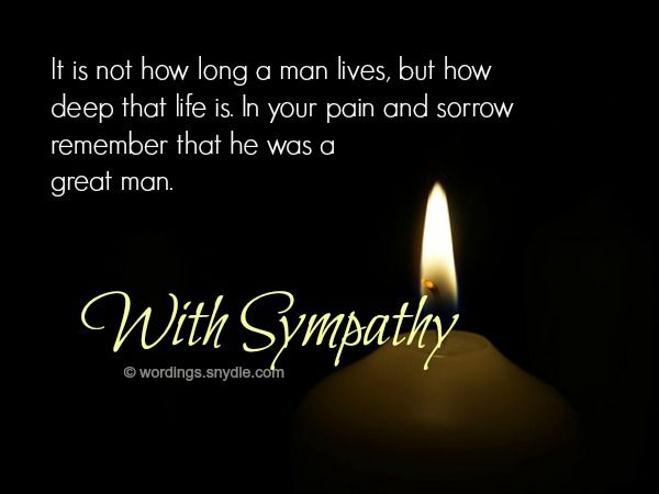 Sympathy Messages for Loss of Husband Sympathy messages