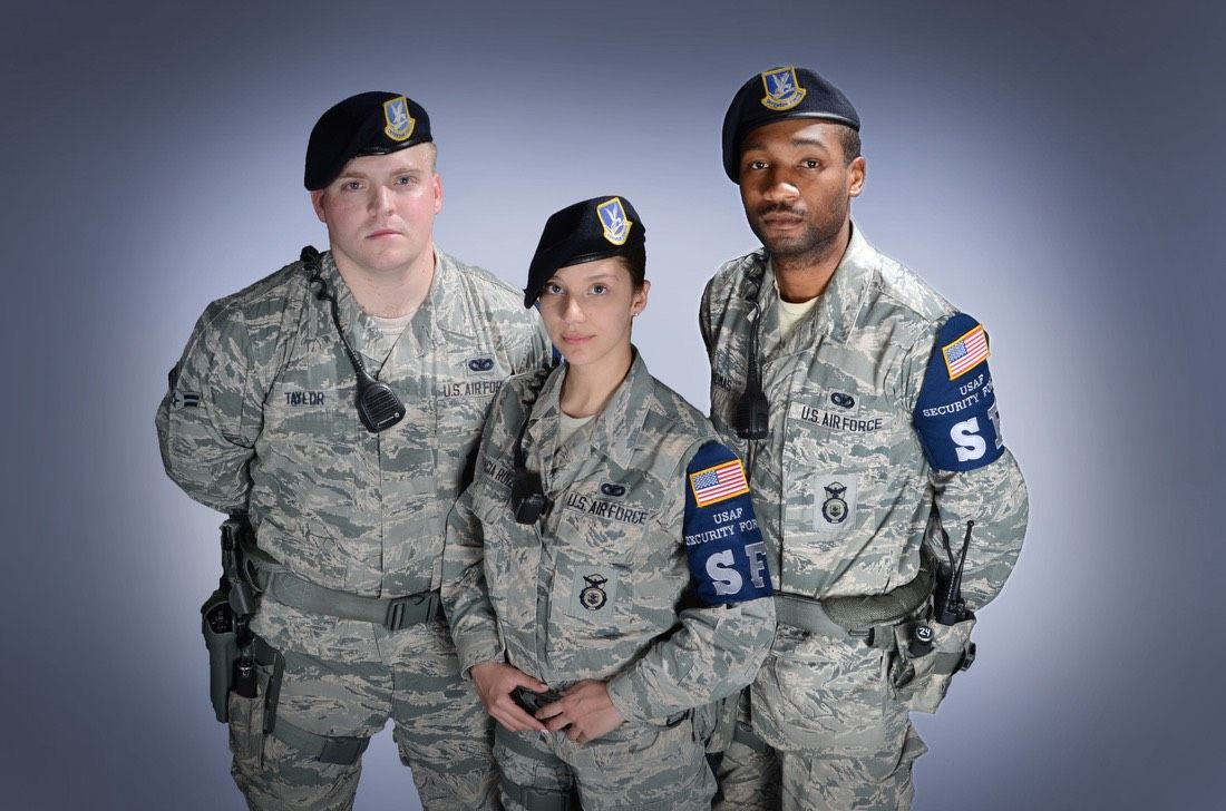 Modern day Air Force Security Forces uniforms