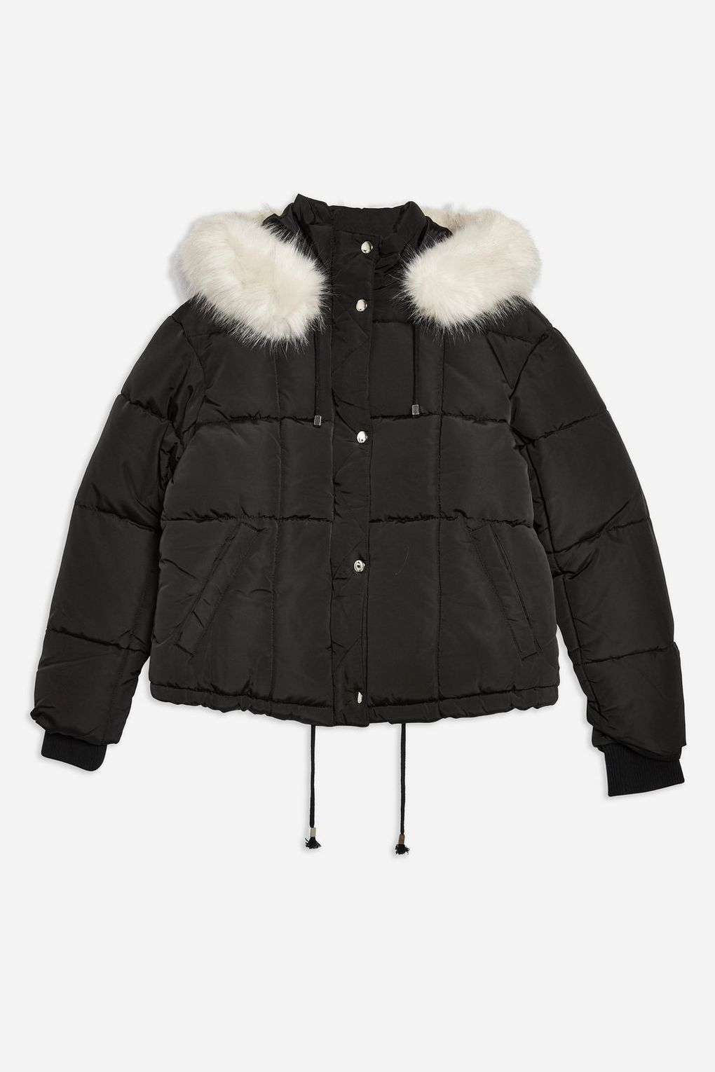 Petite Faux Fur Lined Quilted Puffer Jacket Jackets Coats Clothing Topshop Usa Quilted Puffer Jacket Puffer Jacket Women Cold Wear [ 1530 x 1020 Pixel ]